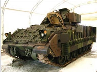 coated bradley fighting vehicle