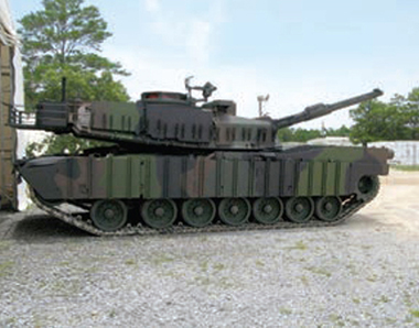 coated M1A1 Abrams
