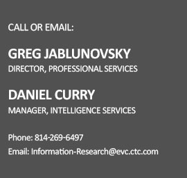 Information Research Services Contact Information