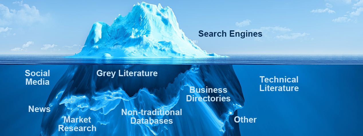 EVC's open source analysts can reach the hidden information on the web to support your analytical needs.